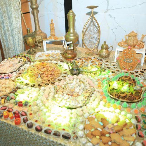 שולחן מתוקים לאירוע חינה באולמי האוס ראשון