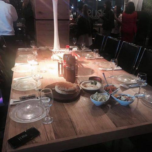 שולחן ערוך לאירוע בר מצווה בהאוס אירועים בראשון לציון